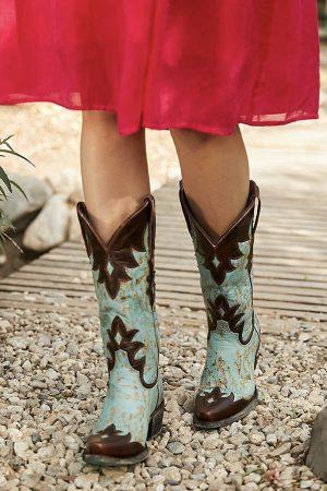 Diamond Dust Overlay Cowgirl Boots