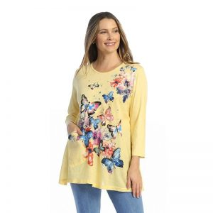 Fantasia Mineral Washed Tunic with Linen Contrast