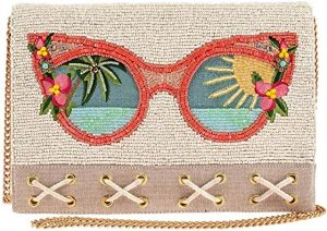 Summer Focus Beaded Sunglasses Crossbody Clutch Handbag