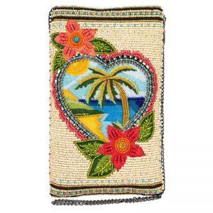 Vacation Dreaming Beaded Crossbody Phone Bag