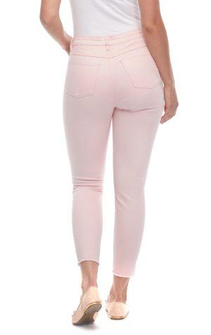 Blush Olivia Slim Ankle Twill Jeans