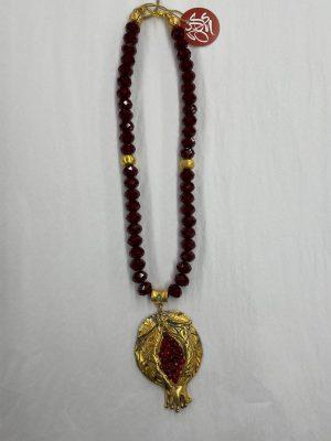 Pomegranate Drop Necklace