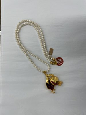 Pearl Necklace with Pomegranate locket