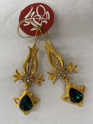 Gold & Emerald Earrings