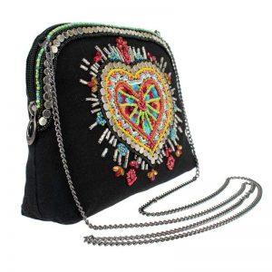 Love Your Tribe Beaded Crossbody Makeup Bag