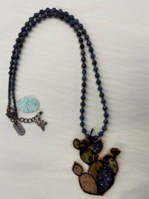 Watercolor Cactus Necklace