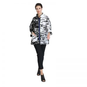Black & White Word Print Jacket