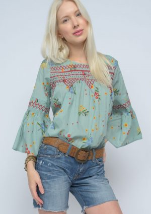 Smocked with Flowers Top