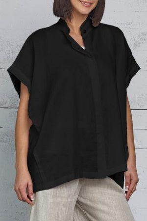 Handkerchief Linen Squared Shirt