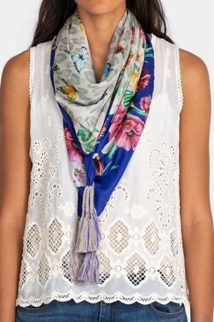 May Flower Scarf by Johnny Was