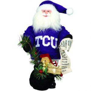 TCU Santa in Purple Sweater