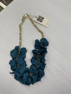 Painted Petal Necklace in Teal