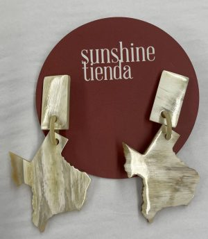 Small Texas Horn Earrings