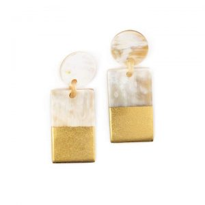 Gold Dipped Statement Earrings