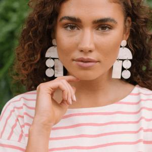 Natural Horn Mobile Earrings