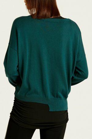 Ripped Mini V-neck Sweater
