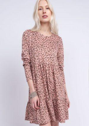 Blushing Leopard Knit Dress