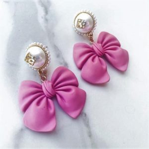 Bow Earrings by Brianna Cannon