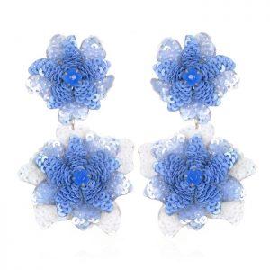 Oaxaca Flower Drop Earrings by Suzanna Dai