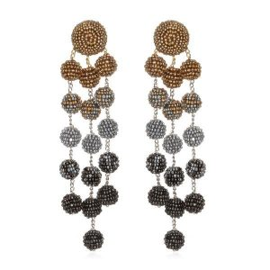 Samburu Long Chandelier Earrings by Suzanna Dai
