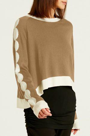 Pima Cotton Crewneck Circling Sweater