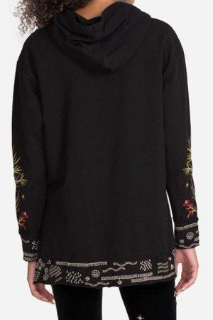 Keone Hooded Sweatshirt Tunic