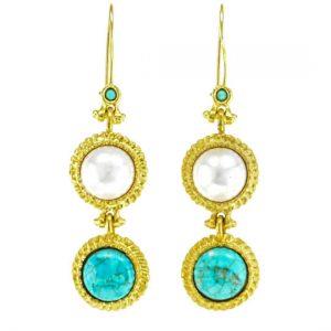 Pearl & Turquoise Earrings