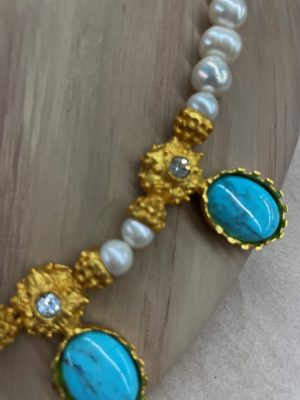 Pearl and Turquoise Necklace