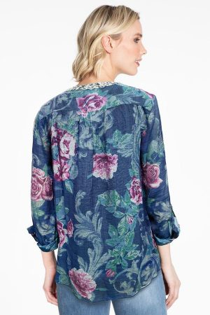 Embroidered Blouse with Tank by John Mark