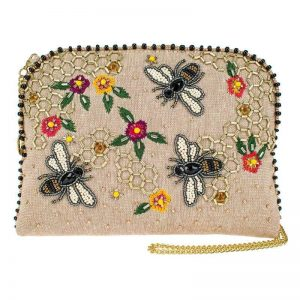 Bee Kind Beaded Crossbody/Makeup Bag